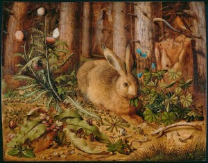 Hare in Forest by Hans Hoffmann (German, about 1530 - 1591)